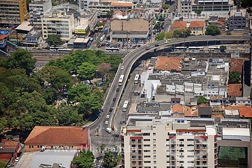 Foto aérea do Viaduto Castro Alves (1968) sobre o Ramal Deodoro da Supervia  - Rio de Janeiro - Rio de Janeiro (RJ) - Brasil