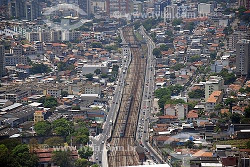 Foto aérea da ferrovia no bairro de Todos os Santos  - Rio de Janeiro - Rio de Janeiro (RJ) - Brasil