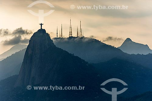 Vista do Cristo Redentor com o Morro do Sumaré ao fundo  - Rio de Janeiro - Rio de Janeiro (RJ) - Brasil