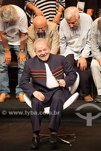 Ex-presidente Luiz Inácio Lula da Silva durante o encontro de intelectuais e artistas no Teatro Oi Casa Grande - Campanha Eleição sem Lula é fraude  - Rio de Janeiro - Rio de Janeiro (RJ) - Brasil
