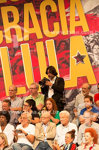Ricardo Stuckert - fotógrafo oficial do Insituto Lula - durante o encontro de intelectuais e artistas com Luiz Inácio Lula da Silva - Campanha Eleição sem Lula é fraude  - Rio de Janeiro - Rio de Janeiro (RJ) - Brasil