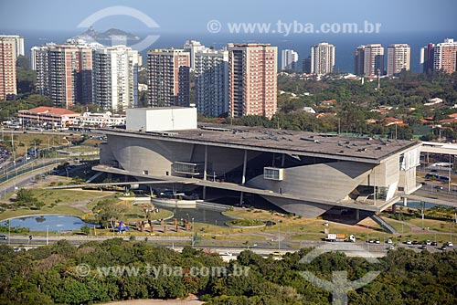 Foto aérea da Cidade das Artes - antiga Cidade da Música  - Rio de Janeiro - Rio de Janeiro (RJ) - Brasil