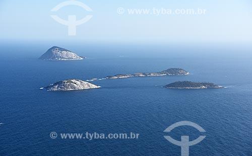 Foto aérea do Monumento Natural das Ilhas Cagarras  - Rio de Janeiro - Rio de Janeiro (RJ) - Brasil