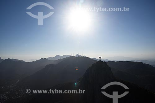 Foto aérea do Cristo Redentor (1931)  - Rio de Janeiro - Rio de Janeiro (RJ) - Brasil