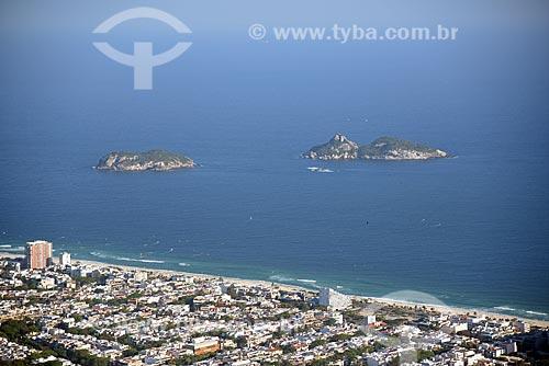 Foto aérea das Ilhas Tijucas  - Rio de Janeiro - Rio de Janeiro (RJ) - Brasil