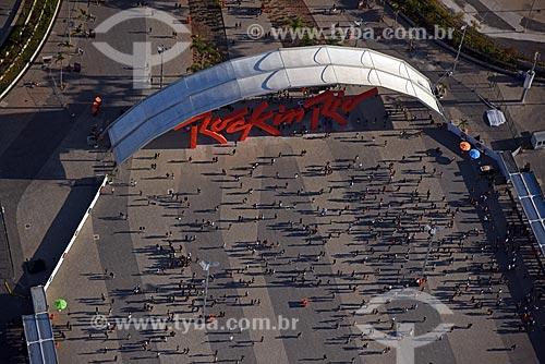 Foto aérea da entrada do Parque Olímpico Rio 2016 durante o Rock in Rio 2017  - Rio de Janeiro - Rio de Janeiro (RJ) - Brasil