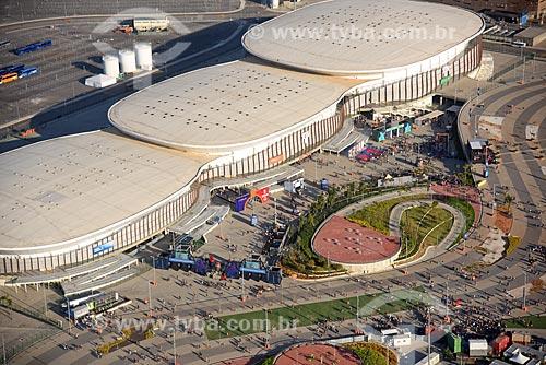 Foto aérea das Arenas Carioca no Parque Olímpico Rio 2016 durante o Rock in Rio 2017  - Rio de Janeiro - Rio de Janeiro (RJ) - Brasil