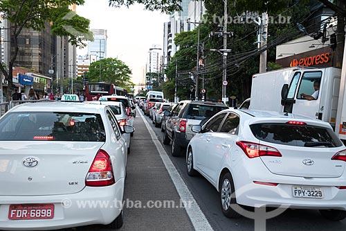 Engarrafamento na Avenida Engenheiro Luís Carlos Berrini durante o horário de pico  - São Paulo - São Paulo (SP) - Brasil