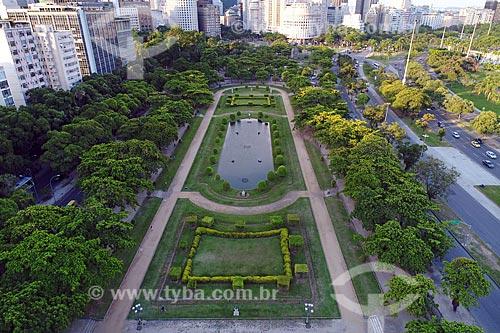 Foto feita com drone da Praça Paris (1926) com a Avenida Infante Dom Henrique à direita  - Rio de Janeiro - Rio de Janeiro (RJ) - Brasil