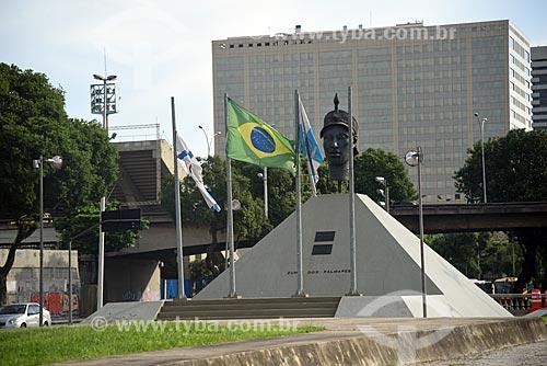 Vista do Monumento à Zumbi dos Palmares (1986)  - Rio de Janeiro - Rio de Janeiro (RJ) - Brasil