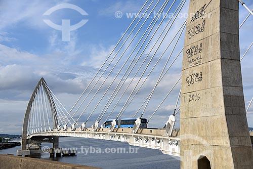 Ônibus do BRT (Bus Rapid Transit) Transcarioca da Ponte Prefeito Pereira Passos (2014)  - Rio de Janeiro - Rio de Janeiro (RJ) - Brasil