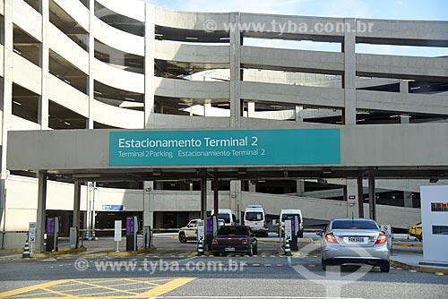 Entrada do estacionamento do Terminal 2 do Aeroporto Internacional Antônio Carlos Jobim  - Rio de Janeiro - Rio de Janeiro (RJ) - Brasil