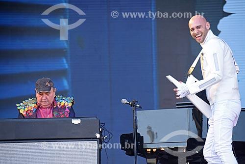 João Donato e Donadinho durante show no Palco Sunset - Rock in Rio 2017 no Parque Olímpico Rio 2016  - Rio de Janeiro - Rio de Janeiro (RJ) - Brasil