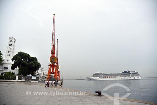 Vista do Píer Mauá a partir da Praça Mauá  - Rio de Janeiro - Rio de Janeiro (RJ) - Brasil
