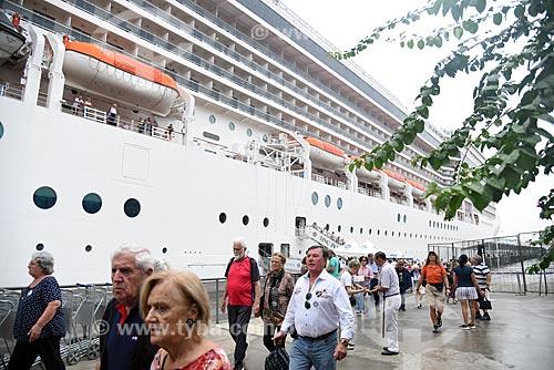 Desembarque de turistas no Píer Mauá  - Rio de Janeiro - Rio de Janeiro (RJ) - Brasil