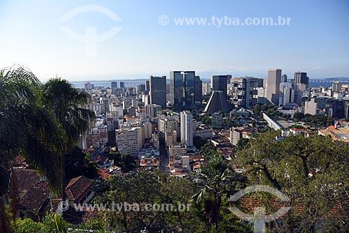 Vista do centro do Rio de Janeiro a partir do Centro Cultural Municipal Parque das Ruínas  - Rio de Janeiro - Rio de Janeiro (RJ) - Brasil