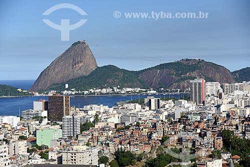 Vista do Pão de Açúcar a partir do Centro Cultural Municipal Parque das Ruínas  - Rio de Janeiro - Rio de Janeiro (RJ) - Brasil