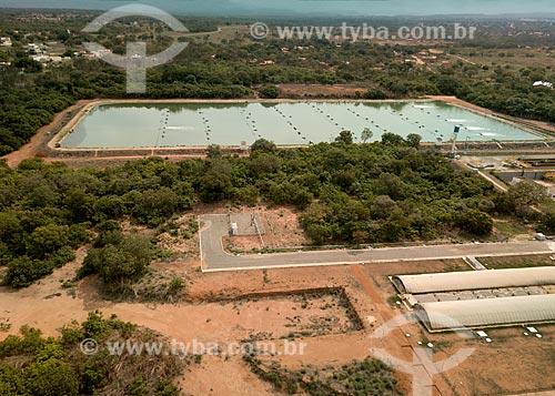 Foto feita com drone da estação de tratamento de esgoto da cidade de Palmas - ETE Norte  - Palmas - Tocantins (TO) - Brasil