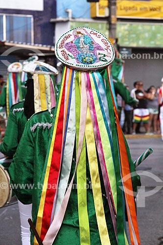 Detalhe de membro de congada durante a festa de São Benedito  - Guaratinguetá - São Paulo (SP) - Brasil