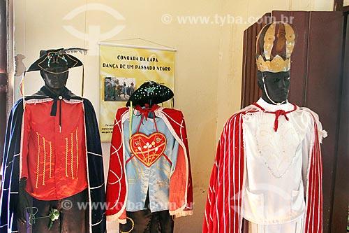 Fantasias de Congada em exibição na Sala da Congada na Casa Vermelha  - Lapa - Paraná (PR) - Brasil