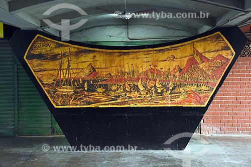 Painel de Jorge Selarón na estação do bonde de Santa Teresa  - Rio de Janeiro - Rio de Janeiro (RJ) - Brasil