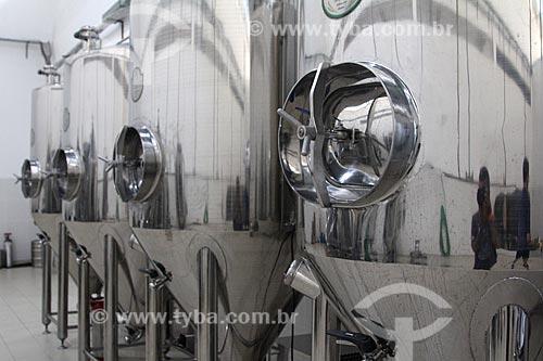 Tanque de fermentação e maturação da Cervejaria Odin  - Petrópolis - Rio de Janeiro (RJ) - Brasil