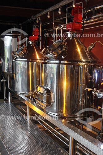 Tanques de mosturação, clarificação e fervura da Cervejaria Buda Beer  - Petrópolis - Rio de Janeiro (RJ) - Brasil