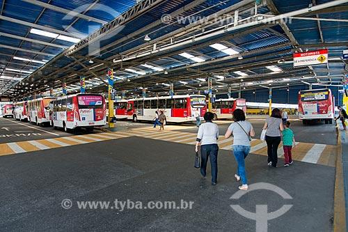Interior do Terminal Central de Ônibus de Mauá  - interligado à Estação Mauá da CPTM  - Mauá - São Paulo (SP) - Brasil