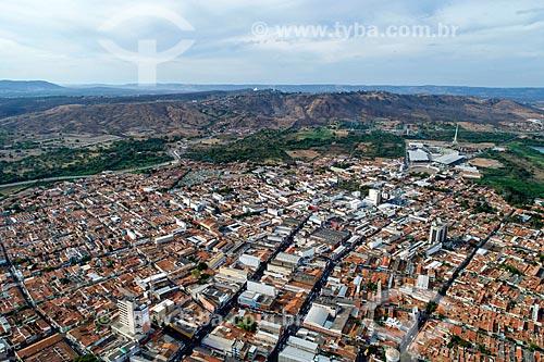 Foto feita com drone da cidade de Juazeiro do Norte com o Colina do Horto ao fundo  - Juazeiro do Norte - Ceará (CE) - Brasil