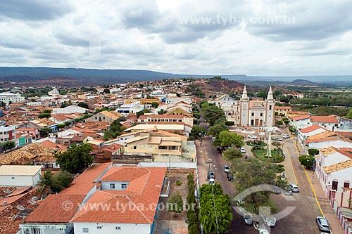 Foto feita com drone da Igreja Matriz de Santo Antônio  - Barbalha - Ceará (CE) - Brasil