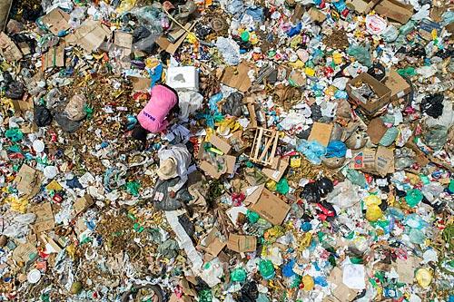 Foto feita com drone de lixão na periferia da cidade de Barbalha  - Barbalha - Ceará (CE) - Brasil