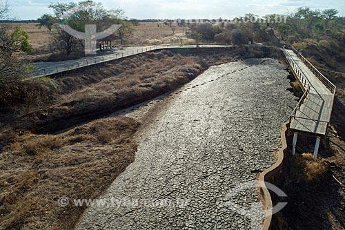 Foto feita com drone do Monumento natural do Vale dos Dinossauros  - Sousa - Paraíba (PB) - Brasil