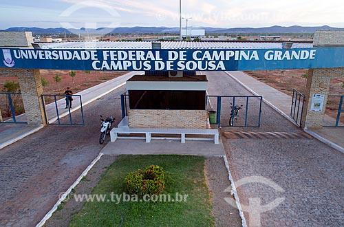 Foto feita com drone da entrada da Universidade Federal de Campina Grande - Campus da cidade de Sousa  - Sousa - Paraíba (PB) - Brasil