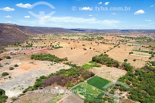 Foto feita com drone da caatinga do Planalto da Borborema  - Mauriti - Ceará (CE) - Brasil