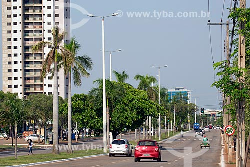 Vista da Avenida Juscelino Kubitschek  - Palmas - Tocantins (TO) - Brasil