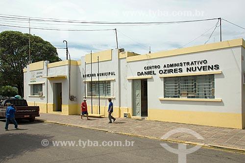 Fachada da Prefeitura da cidade de Santana do Cariri  - Santana do Cariri - Ceará (CE) - Brasil
