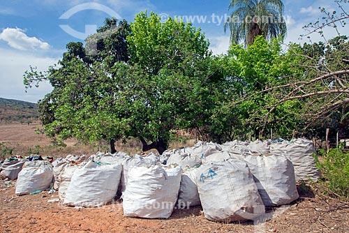 Sacas com plásticos para reciclagem  - Crato - Ceará (CE) - Brasil