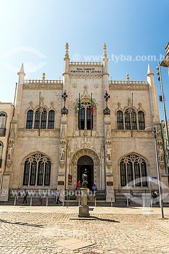 Fachada do Real Gabinete Português de Leitura (1887)  - Rio de Janeiro - Rio de Janeiro (RJ) - Brasil