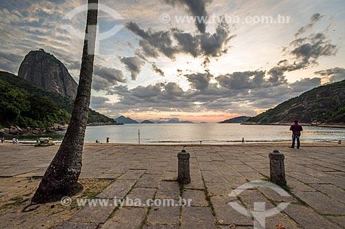 Vista do amanhecer na Praia Vermelha  - Rio de Janeiro - Rio de Janeiro (RJ) - Brasil