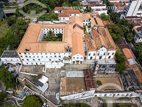 Foto feita com drone da Igreja e Convento de Santo Antônio do Rio de Janeiro (1615)  - Rio de Janeiro - Rio de Janeiro (RJ) - Brasil