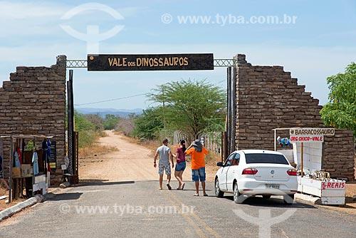 Entrada do Monumento natural do Vale dos Dinossauros  - Sousa - Paraíba (PB) - Brasil