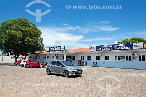 Fachada do Hospital Regional de Sousa Deputado Manoel Gonçalves Abrantes   - Sousa - Paraíba (PB) - Brasil