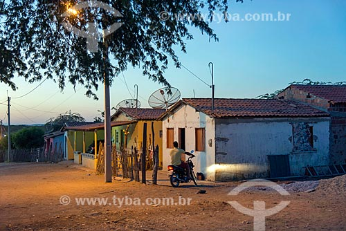 Casas na Comunidade Caatinga Grande na aldeia da Tribo Truká  - Cabrobó - Pernambuco (PE) - Brasil