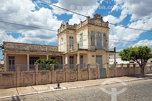 Palacete da familia Pereira (1923) - pertenceu ao coronel José Pereira Lima  - Princesa Isabel - Paraíba (PB) - Brasil