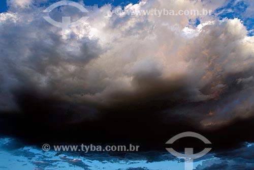 Céu com nuvens de tempestade  - Mauriti - Ceará (CE) - Brasil
