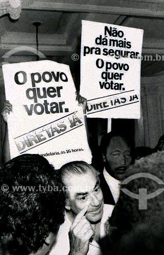 Leonel Brizola durante a campanha ao Governo do Estado do Rio de Janeiro  - Rio de Janeiro - Rio de Janeiro (RJ) - Brasil