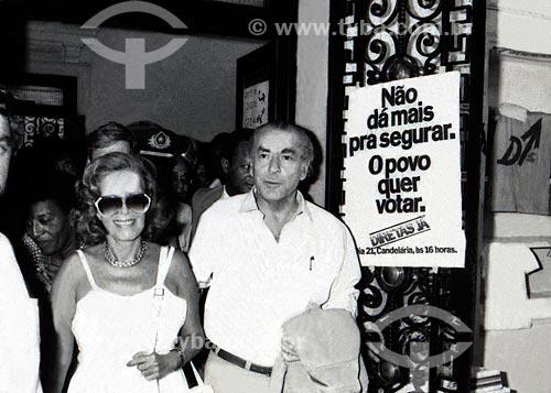 Leonel Brizola e Neusa Goulart Brizola durante a campanha ao Governo do Estado do Rio de Janeiro  - Rio de Janeiro - Rio de Janeiro (RJ) - Brasil