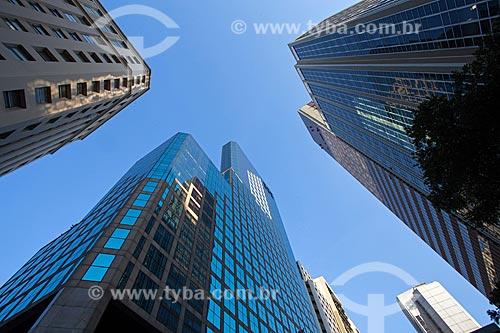 Vista de prédios comerciais na Avenida Rio Branco  - Rio de Janeiro - Rio de Janeiro (RJ) - Brasil