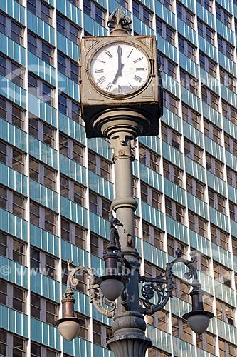 Detalhe de Relógio do Largo da Carioca  - Rio de Janeiro - Rio de Janeiro (RJ) - Brasil