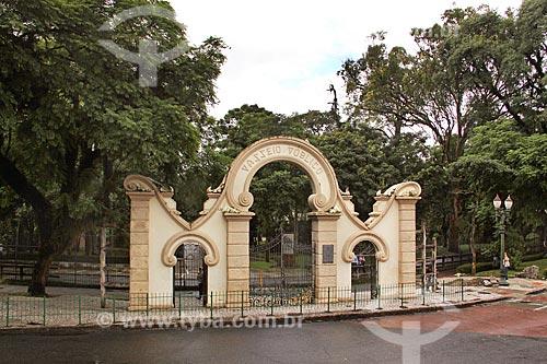Portal do Passeio Público de Curitiba (1886)  - Curitiba - Paraná (PR) - Brasil
